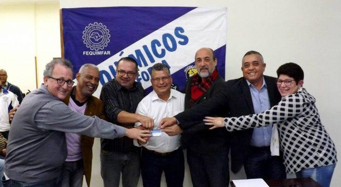 Posse da nova diretoria da Federação dos Trabalhadores nas Indústrias Químicas e Farmacêuticas do Estado de São Paulo – FEQUIMFAR
