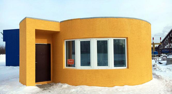 Impressora 3D constrói casa totalmente habitável em 24 horas