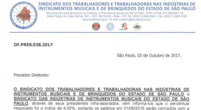 Of. Pres 038.2017 – Reajuste e Assistencial Setor Instrumentos
