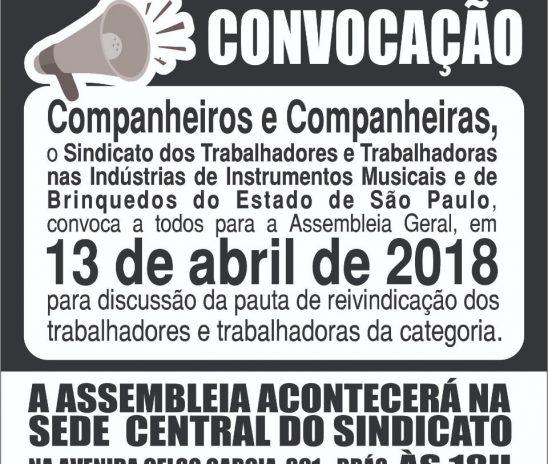Convocação, 13/abr/2018