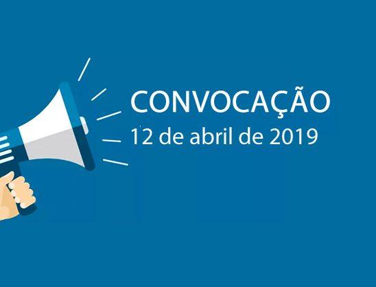 Convocação 12 de abril de 2019