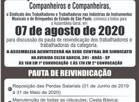 07/08/2020 ASSEMBLÉIA GERAL